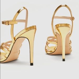1271320f488b Zara Shoes - ZARA LAMINATED STRAPPY SANDALS